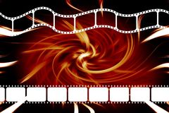 Movie film reel strip Royalty Free Stock Photos