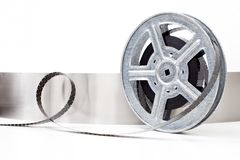 Movie film reel on white background Royalty Free Stock Images