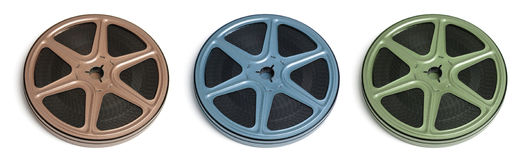 Movie Film Reels Stock Photo