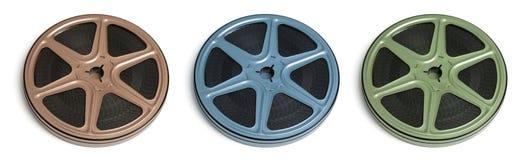 Movie Film Reels Stock Photo
