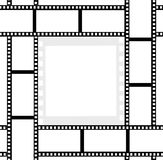 Movie film ribbons photo frame. Photo frame from movie film ribbon Royalty Free Stock Photography