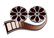 Movie film roll. And drum design by computer generated Royalty Free Stock Photography