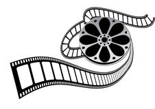 Movie film roll. And drum design by computer generated royalty free illustration
