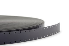 Movie film roll on white. Movie film roll, isolated on white background Royalty Free Stock Photos