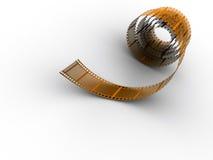 Movie film strip. Green film strip on white background - 3d render Stock Photo