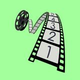 Camera Roll - Film Strip Vector. Movie - Film Strip, Camera Roll with Numbers Stock Photos