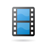 Movie film strip icon. Isolated movie film as clip art Royalty Free Stock Photography