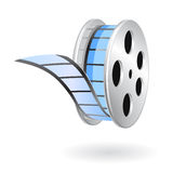 Movie film strip reel. Illustrated movie film reel with shadow Royalty Free Stock Photography