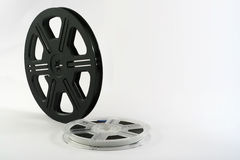 Movie films. Film reels with film. Useful for movie or cinema backdrop or backfround poster. Film on film royalty free stock image