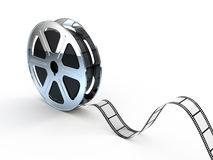 Movie films spool with film. 3d render Royalty Free Stock Image
