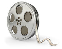Movie films spool with film. On white background Stock Images