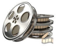 Movie films spool with film Royalty Free Stock Photo