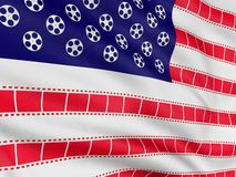 Movie flag 2 Stock Photo
