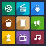 Movie Flat Icons Set 37 Royalty Free Stock Image