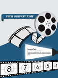 A Movie flyer. A flyer for a movie production royalty free illustration