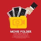Movie Folder. Movie Folder Vector Illustration Stock Photos
