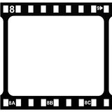 Movie frame. Empty silmstrip. Royalty Free Stock Photos