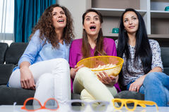 Movie with the girls Royalty Free Stock Image