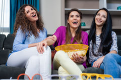 Movie with the girls Royalty Free Stock Photo