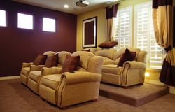 Movie Home Room Design. Movie Room Design in new model home Stock Photography