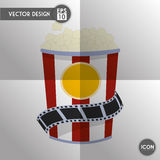 Movie icon design Stock Image