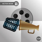 Movie icon design Stock Photography