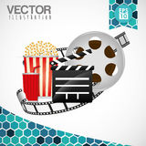 Movie icon design Royalty Free Stock Images