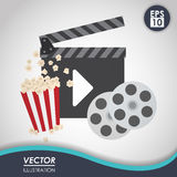 Movie icon design Stock Images