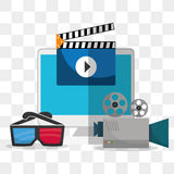 Movie icon design Royalty Free Stock Photo