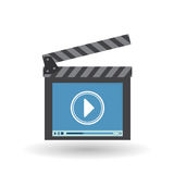 Movie icon design, vector illustration Royalty Free Stock Image