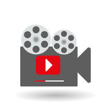 Movie icon design, vector illustration Stock Photo