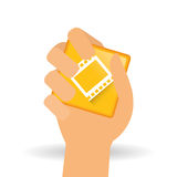 Movie icon design, vector illustration Royalty Free Stock Photo