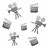 Movie icon doodle Stock Photos