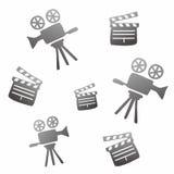 Movie icon doodle. Movie theme icon graphic  design illustration Stock Photos