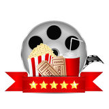Movie icon. Items for cinema  on white background Stock Photography