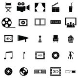 Movie icon set. The movie of icon set Royalty Free Stock Photography