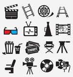 Movie Icon Set Royalty Free Stock Photo