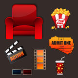 Movie icon set. Clean of Movie icon set Royalty Free Stock Photography