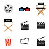 Movie icon set illustration. Movie icon set art illustration Stock Photo