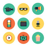 Movie Icon Set Royalty Free Stock Photography