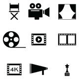 Movie icon set illustration design. The movie of icon set illustration design Royalty Free Stock Photo