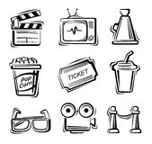 Movie icon set Stock Image