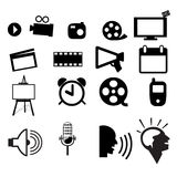 Movie icon set vector. Cute,eps10 Royalty Free Stock Photography