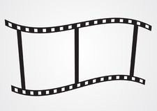 Movie Icon Vector EPS. Movie Icon on Gray background, stock vector EPS Stock Image