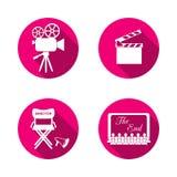 Movie icons Royalty Free Stock Photos