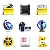 Movie  icons   Bella series Stock Images