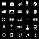 Movie icons on black background Royalty Free Stock Photo