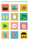 Movie Icons Stock Images