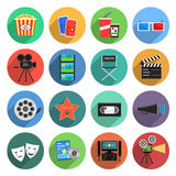Movie Icons Flat Set Royalty Free Stock Image