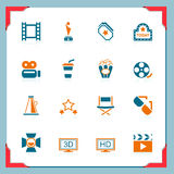 Movie icons | In a frame series. Movie and entertainment icons | In a frame series Royalty Free Stock Photo